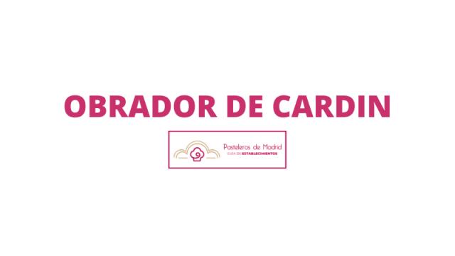 OBRADOR DE CARDIN